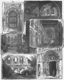 ROCHESTER CATHEDRAL. Chapter; Crypt; Nave; Choir 1898 old antique print